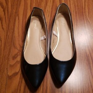 ***Dark teal pointed toe ballet flats SZ 7.5